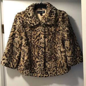 Forever 21 faux fur coat large